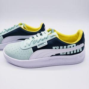Puma California Logo Sneaker Green Yellow …